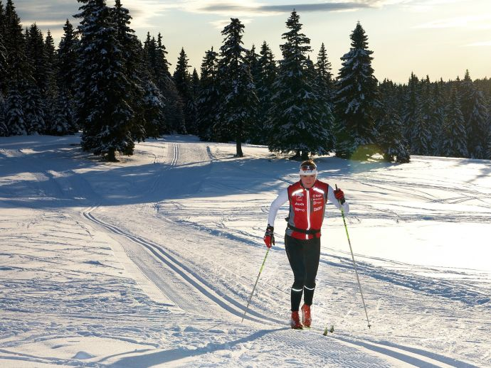 Beginning of cross country skiing and new ski slopes